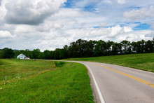 A Farm Along A Country Road In Rural Tennessee, USA