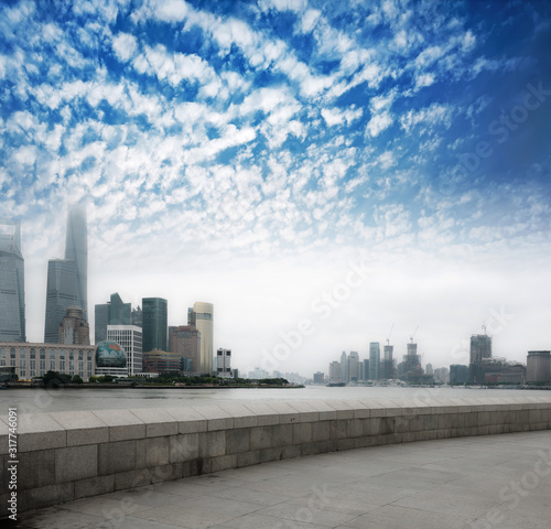 modern city,shanghai skyline in daytime Canvas Print