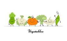 Funny Smiling Vegetables, Char...