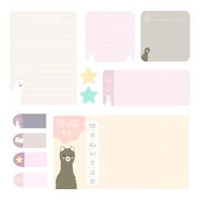 Cute Notes Set With Baby Alpaca