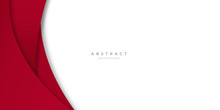 Modern Simple Red White Abstra...