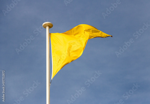 Fotografie, Obraz Drapeau jaune de surveillance