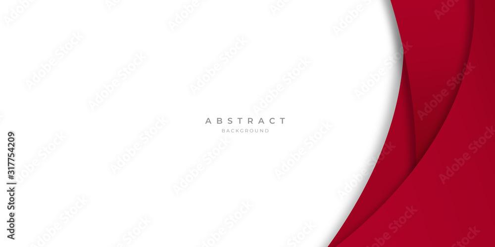 Fototapeta Modern Simple Red White Abstract Background Presentation Design