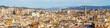 Wide panorama of Barcelona, Spain