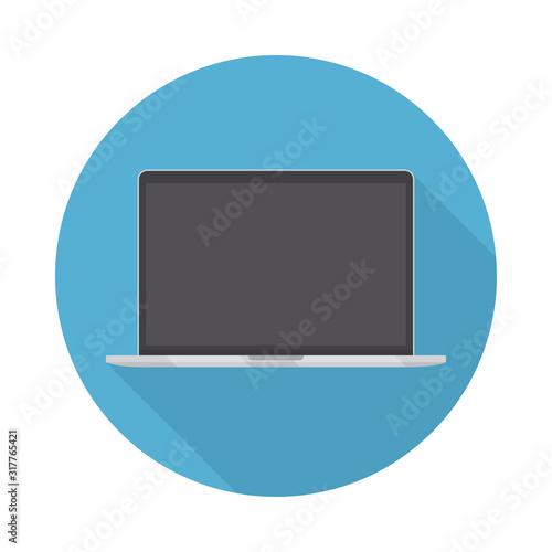 Fotografía Laptop icon in a flat design with long shadow