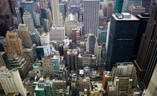 USA, New York, Manhattan, View...