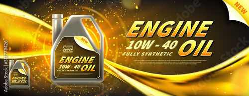 Fotografía Engine oil advertisement banner