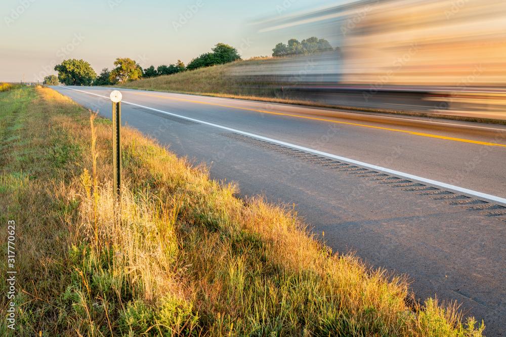 Fototapeta highway in Nebraska Sandhills