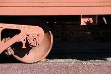 Old Abandoned Train Car Wheel