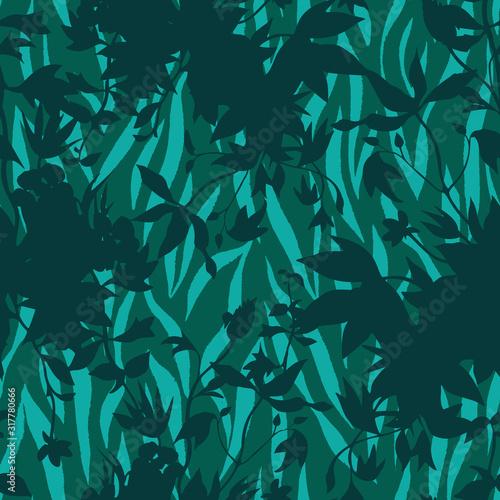 Canvastavla Vector botanical nature seamless pattern