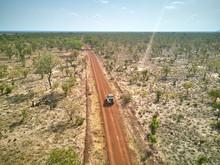 Benin, Aerial View Of 4x4 Car ...