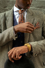 Stylish Businessman Holding A ...