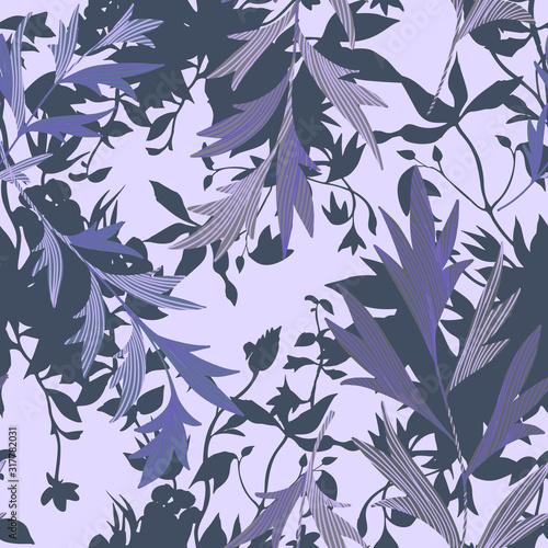 Fotografiet Vector botanical seamless pattern
