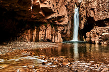 Long Exposure, Art Landscape Photo Of Cibeque Falls, On Cibeque Creek