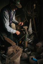 Old Worker In The Blacksmith