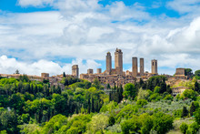 Medieval Tower Houses In San Gimignano, Tuscany, Italy