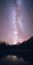 The Milky Way Glows Brightly A...