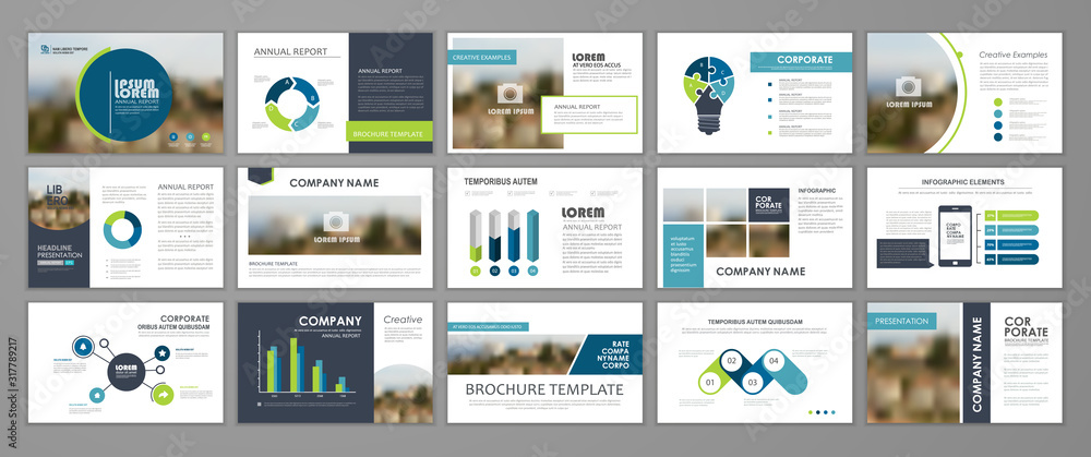 Fototapeta Corporate slideshow templates