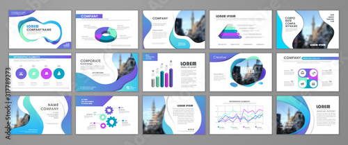 Fototapeta Elements of infographics for presentations templates obraz