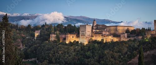 Alhambra & Sunset Fototapet