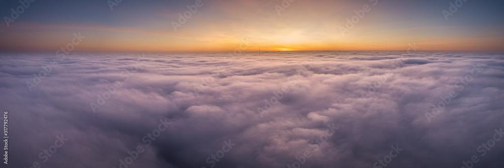 Fototapeta Nebel von oben