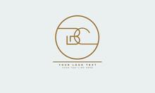 BC ,CB ,B ,C Letter Logo Design With Creative Modern Trendy Typography