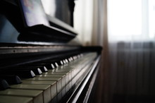 Old Piano With Keys