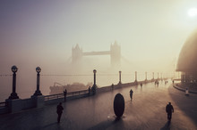 Scenic View Of Tower Bridge An...