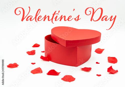 carte ou bandeau valentin's day boite coeur rouge Canvas Print