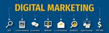 Digital Marketing Flat Vector ...