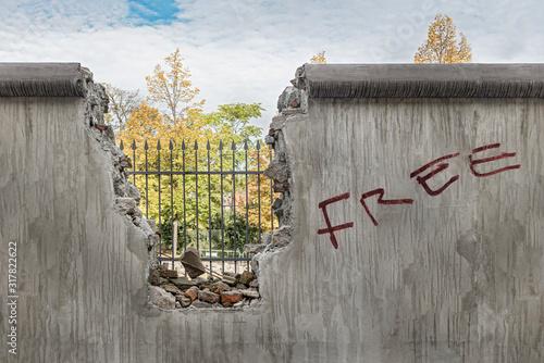 Fotografia Political barricade that limits freedom
