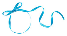 Blue Ribbon Curl Isolated On W...