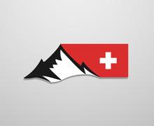Switzerland Mountain Symbol