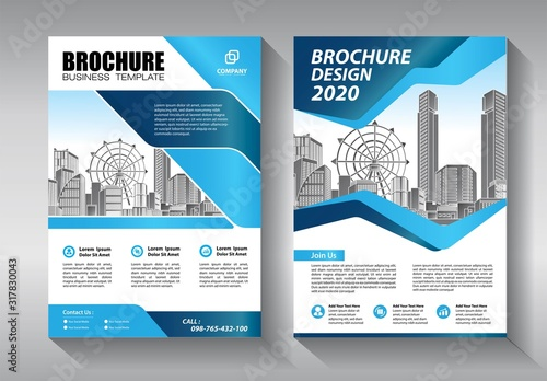 Fototapeta Business abstract vector template. Brochure design, cover modern layout, annual report, poster, flyer in A4 with colorful triangles, geometric shapes for tech, science, market with light background obraz na płótnie