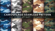 Set Camouflage Military Seamle...