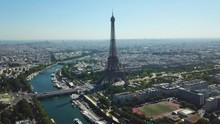France, Paris. Aerial Close Up...