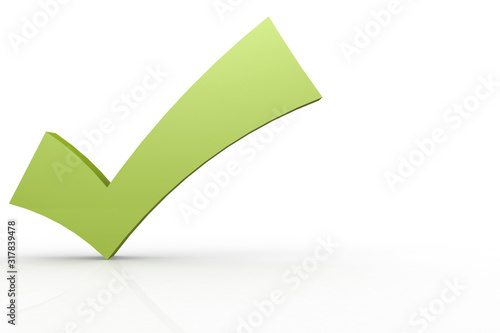 Fotografía Green check mark isolated on white background