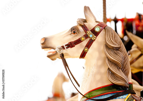 carousel horses Wallpaper Mural