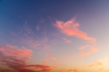 Breathtaking Shot Of A Sunset And A Colorful Sky-good For A Background