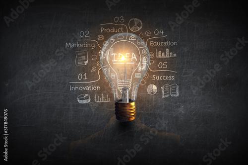Obraz Concept of creative thinking . Mixed media - fototapety do salonu