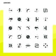 25 Arrows Icon set. Solid Glyph Icon Vector Illustration Template For Web and Mobile. Ideas for business company.