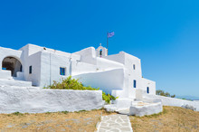 Monastery In Paros Island Greece