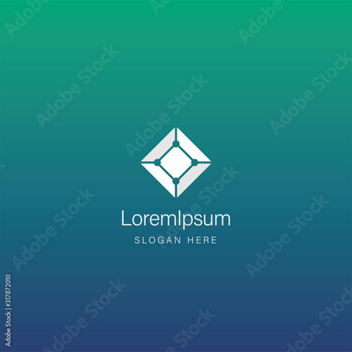 Abstract square logo design template Fotomurales