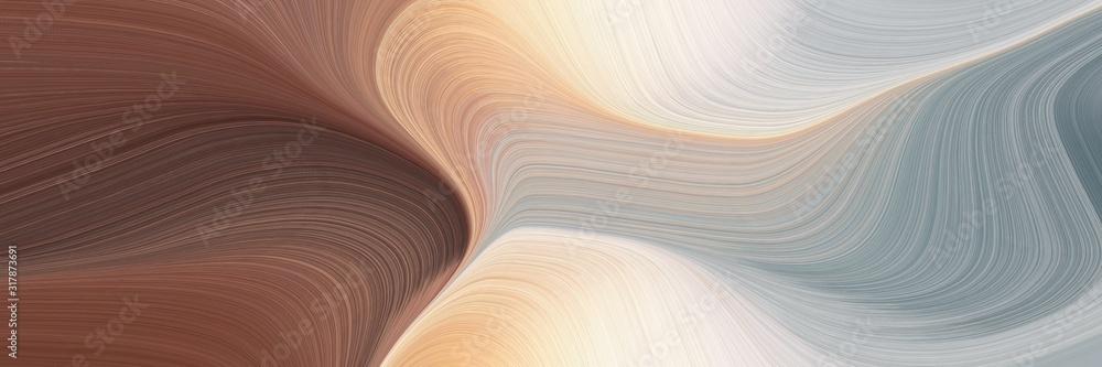 Fototapeta moving header with silver, old mauve and pastel gray colors. dynamic curved lines with fluid flowing waves and curves
