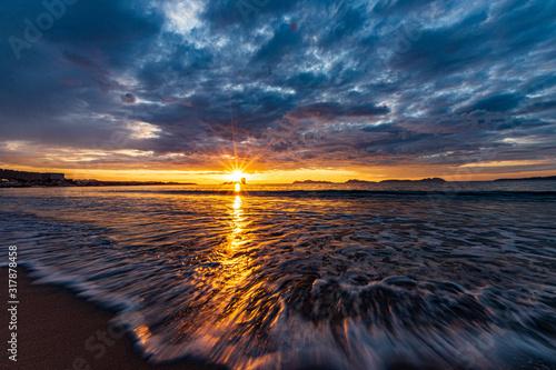 Fototapeta sunset over the sea obraz