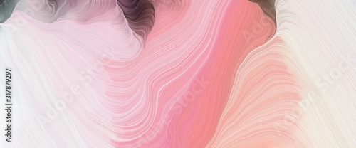 Fototapeta dynamic horizontal header with baby pink, old mauve and pale violet red colors. very dynamic curved lines with fluid flowing waves and curves obraz