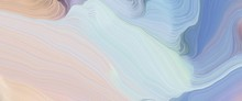 Colorful Header Design With Light Gray, Light Slate Gray And Pastel Blue Colors. Very Dynamic Curved Lines With Fluid Flowing Waves And Curves