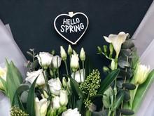 Hello Spring Heart Chalkboard ...