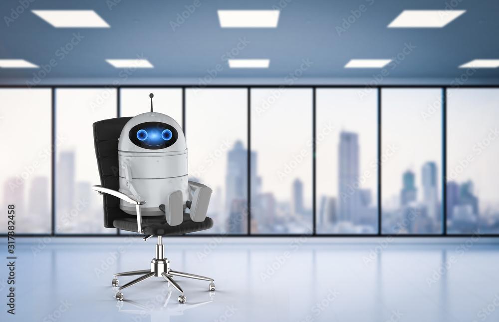 Fototapeta Android robot in office