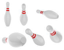 Set Of Bowling Pins
